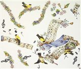 Musical Birds Art Print
