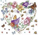 Butterfly Heart Art Print