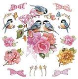 Chick On Rose Art Print