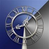 Silver Clock Art Print