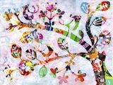 Girly Bird Art Print