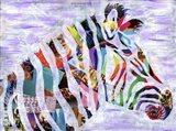 Purple Zebra Art Print