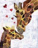 Sweet Giraffes Art Print