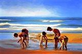 Kids At The Beach? Art Print