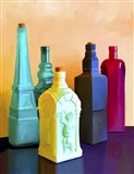 Color Bottles Art Print