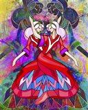 Twin Dances Art Print