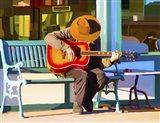 Play His Guitar Art Print