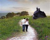 Lovers Walk Art Print