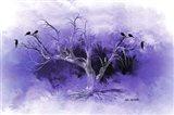 Dead Tree And Black Birds Art Print