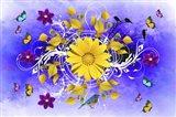 Flowers Design 1 Art Print