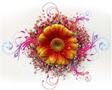 Flowers Design 2 Art Print