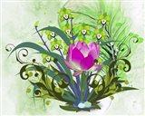 Flowers Design 3 Art Print