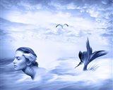 Lone Mermaid Art Print