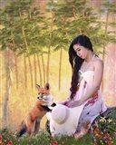 She Loves Nature Art Print