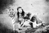 Tiger Girl Art Print