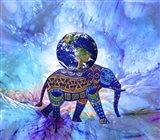 Earth On Elephant Art Print