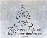 Love over hate Art Print