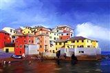 A Colorful Town Art Print