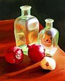 Bottles And Onion Art Print