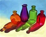 Colorful Bottles Art Print