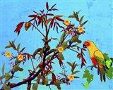 Parrot in Garden 2 Art Print