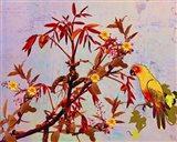 Parrot in Garden Art Print