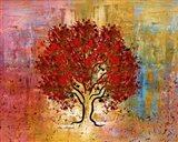 Red Tree 3 Art Print