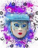 Colorful Mask Art Print
