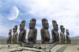 Moai Art Print