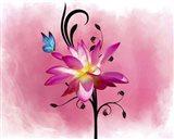 Butterfly Flower 3 Art Print