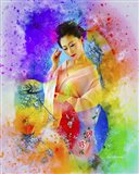 Lady in Color Art Print