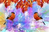 Twin Bird Art Print