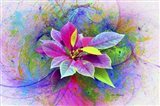 Flower Design 7N Art Print