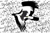 The Black Birds 2 Art Print