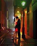 Kissing Goodnight Art Print