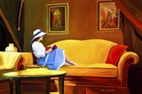 Lady Reading 1 Art Print