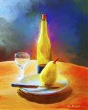 Wine And Pear Art Print