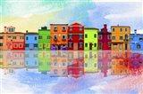 Color Town 8A Art Print