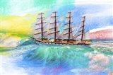 Sailing Away 4 Art Print
