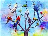 Birds Land !H Art Print