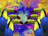 Colorful Birds A1A Art Print