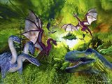 Dinosaur Land Art Print
