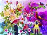 Flowery Forest Art Print