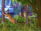 Tiger Forest Art Print