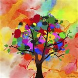 Color Tree SEP Art Print