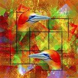 Twin Bird SEP Art Print