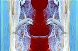 Twin Dolphin Art Print