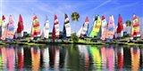 Sailing Boat Port Art Print