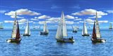 Sailing The Sea Art Print