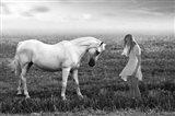 Her White Horse Art Print